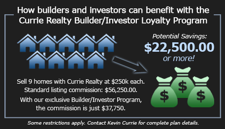 currie realty builder and investor loyalty program